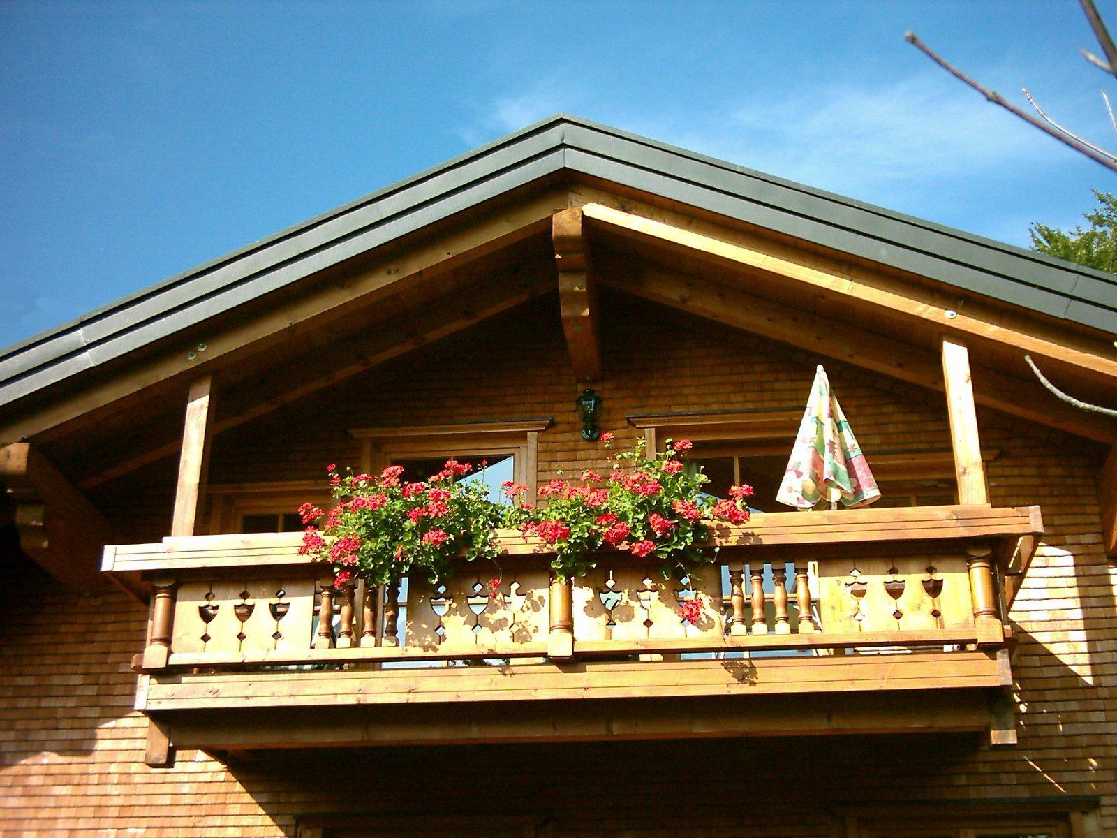 Ferienwohnung Riedbergerhorn Balkon