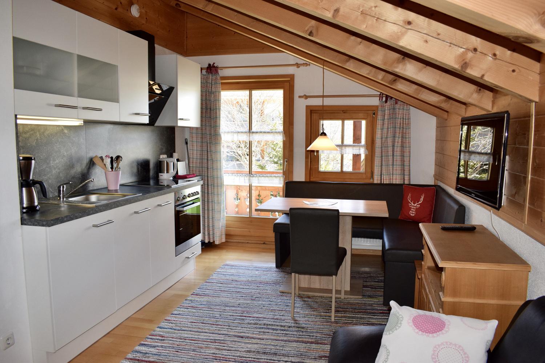 Haus Waldeck Ferienwohnung Riedbergerhorn neue Küchenzeile