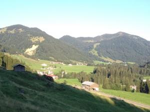 Blick in's sonnige Balderschwanger Tal