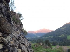 Blick auf's Riedbergerhorn und die schönen, großen Nagelfluhsteine